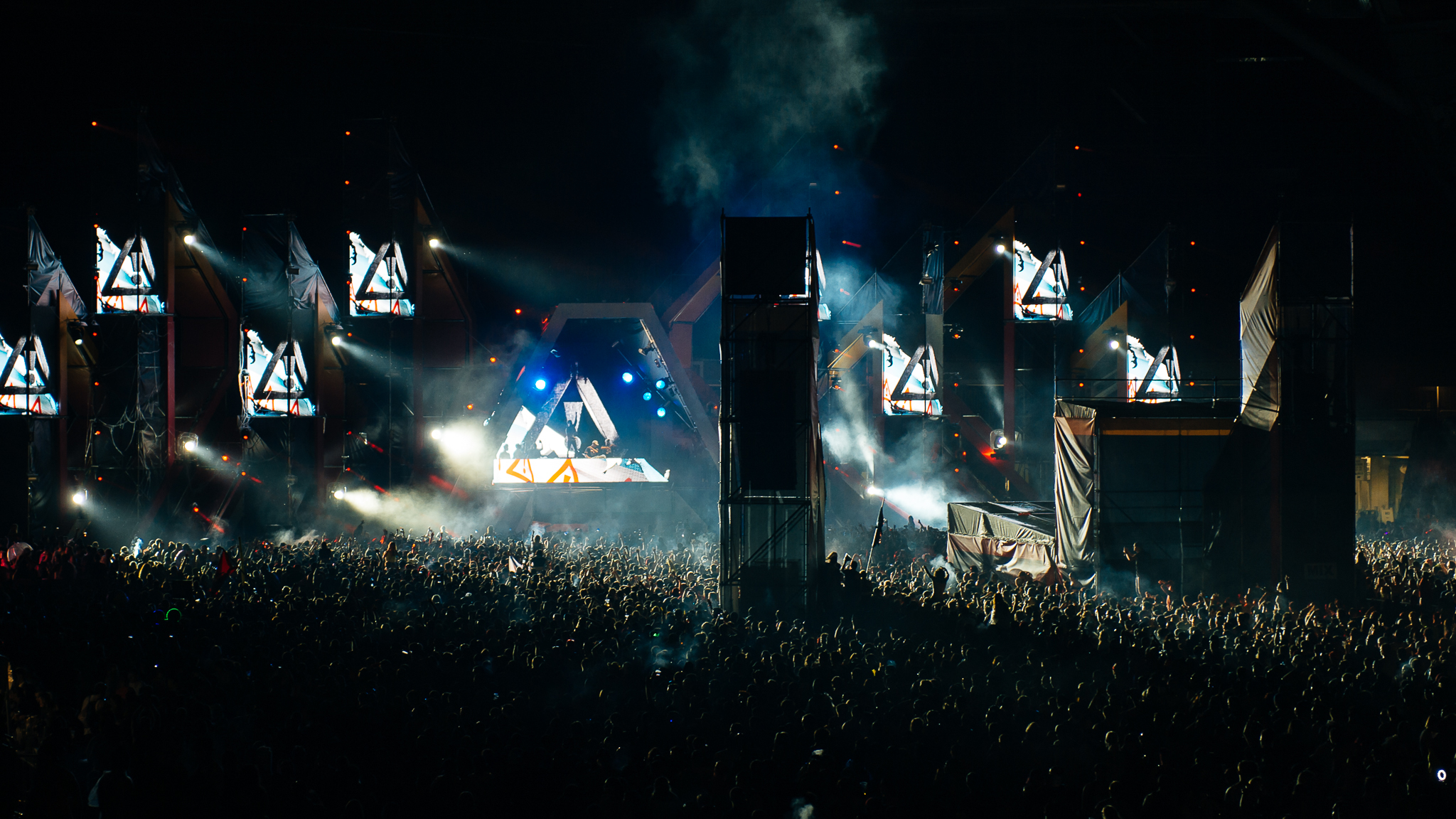 Ravers showed up catch EDM acts in Solider Field at Spring Awakening Music Festival 2015.