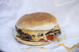Double cheeseburger at Yuca's