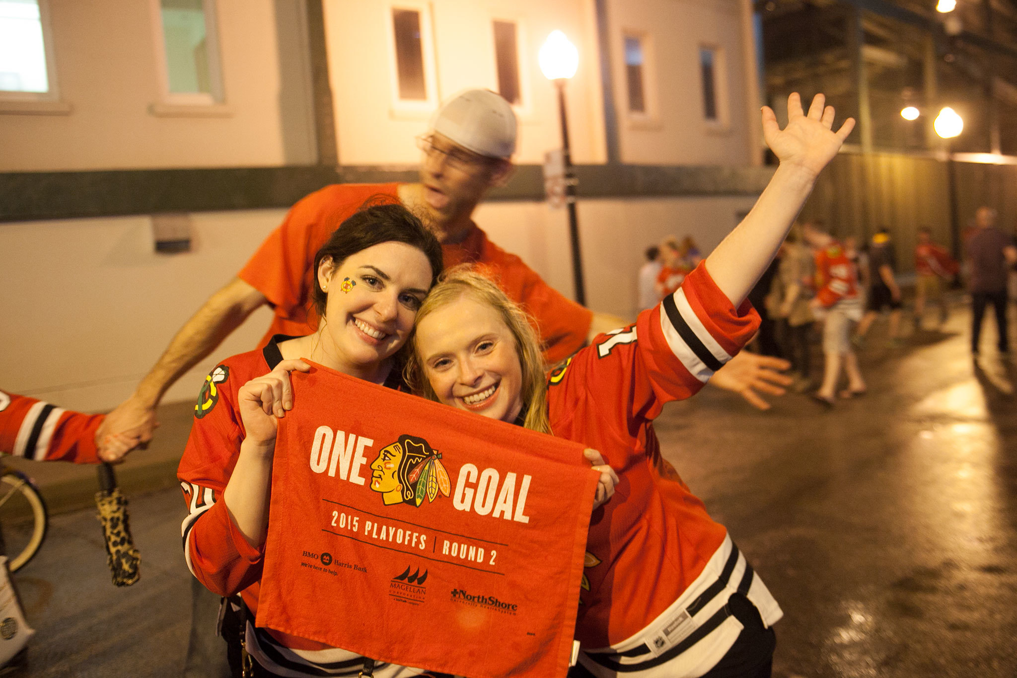 Wrigleyville celebrates the Blackhawks' Stanley Cup victory over Tampa Bay on June 15, 2015.