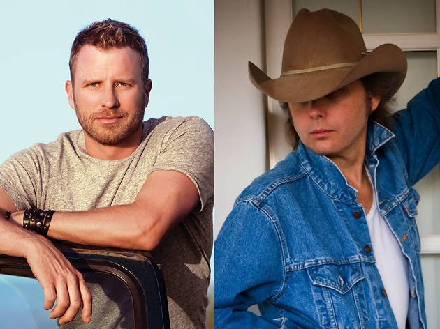 Country idols Dwight Yoakam and Dierks Bentley laugh it up