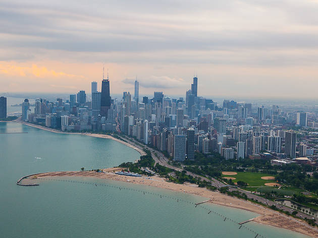 We took a helicopter tour of the Chicago skyline