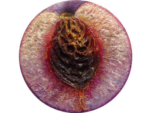#25, Oil on canvas, 8 inches diameter, 2015