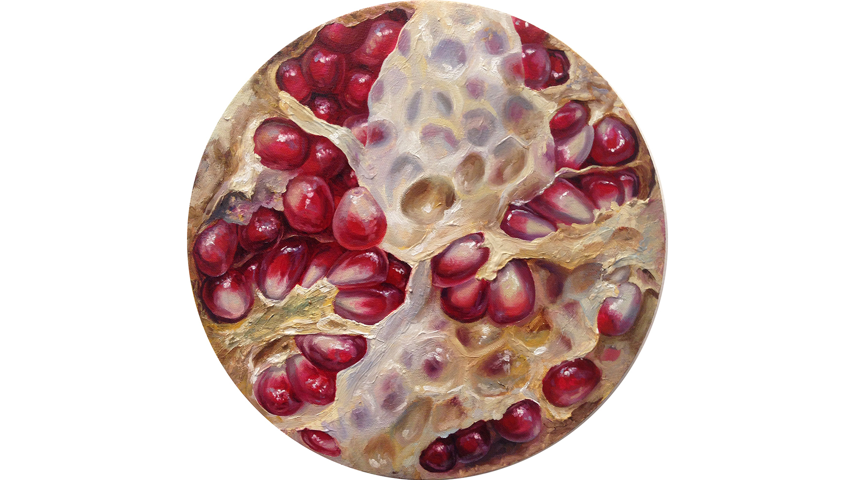 #26, Oil on canvas, 12 inches diameter, 2015
