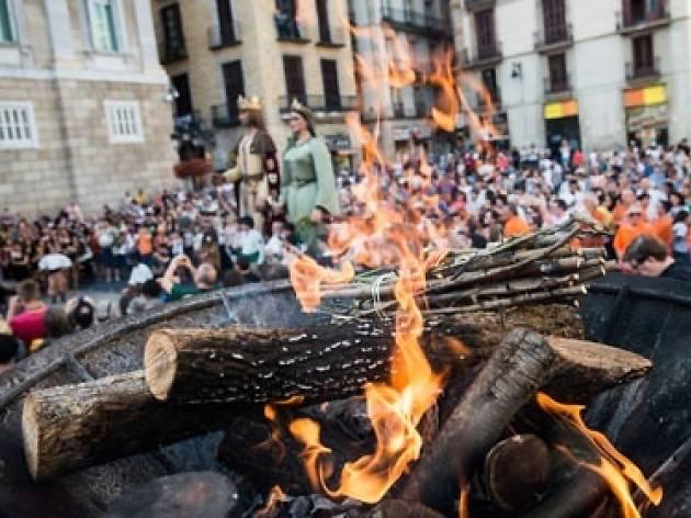 Sant Joan 2015: Rebuda de la Flama del Canigó