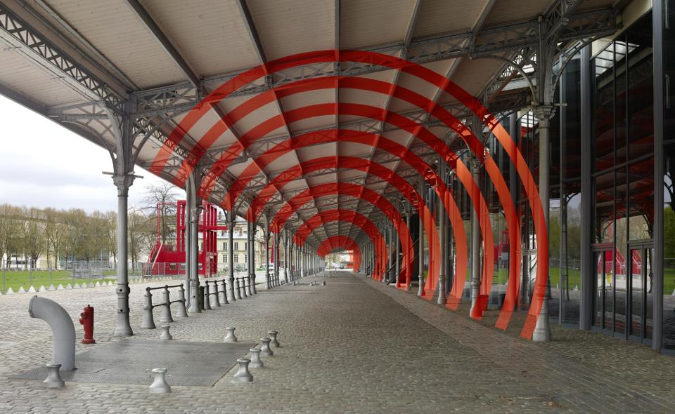 Felice Varini : La Villette en suites