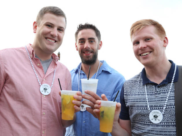 The Captain Morgan Flavors Bartender Competition was held at Oak Street Beach on Tuesday.
