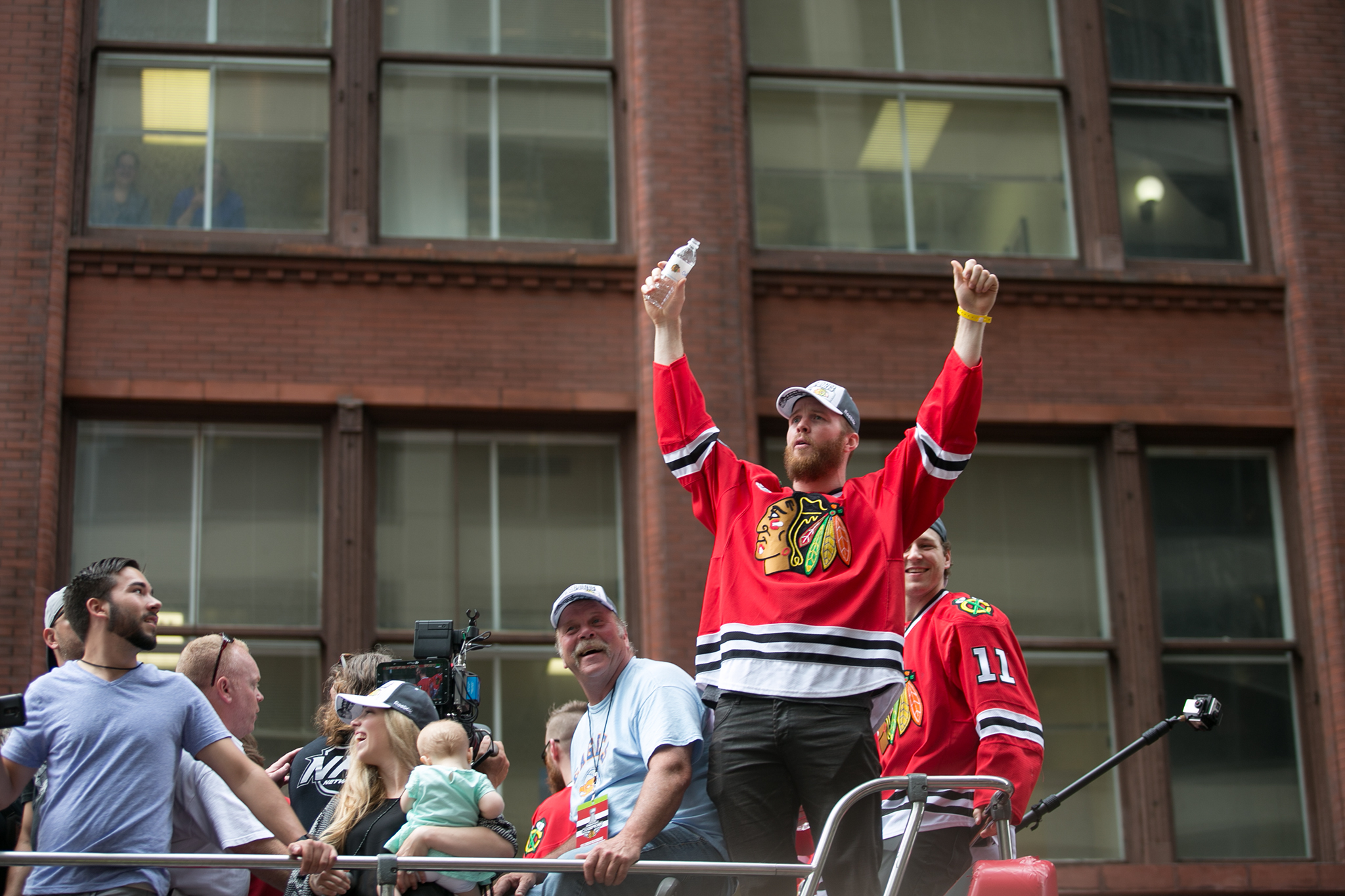 Thousands of fans gathered in the Loop for the Blackhawks Stanley Cup victory parade on June 18, 2015.