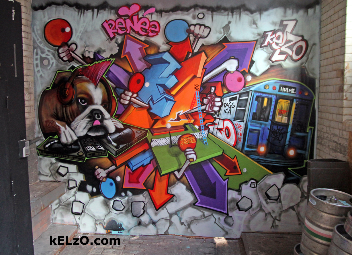 Kelzo at 2022 bar, Northern Quarter