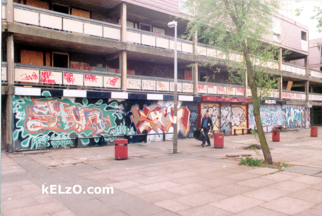 June's butty shop, Hulme Walk shops (1995)