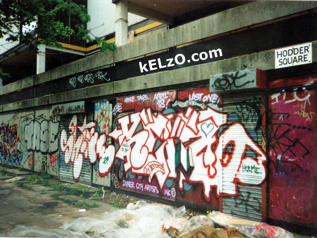 Shine 159, Kelzo, Hodder Square shops, Hulme (1998)