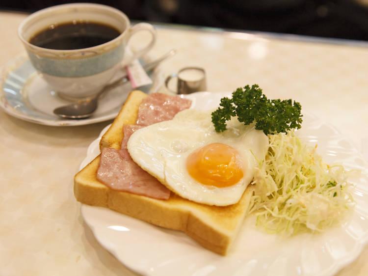 9am: Eat breakfast at a jun-kissa