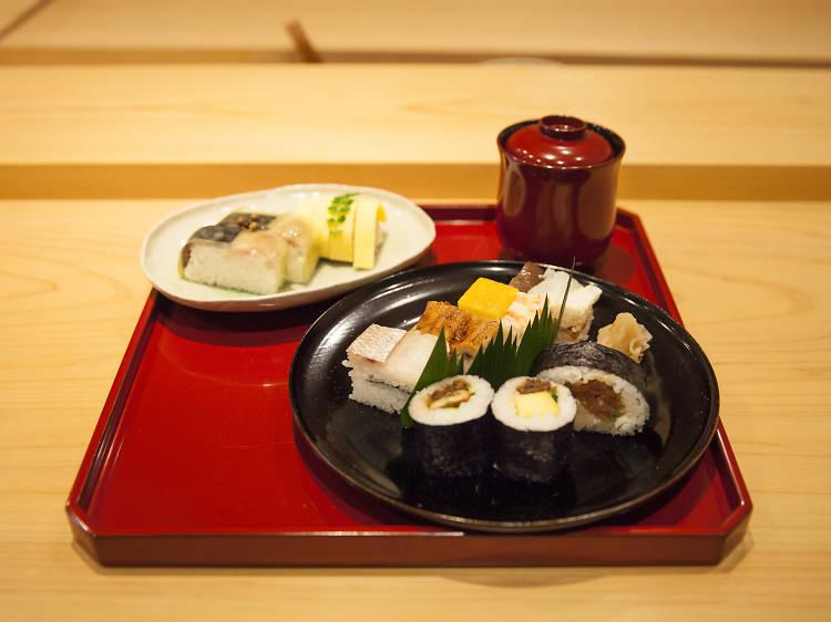 12pm: Try Osakan sushi