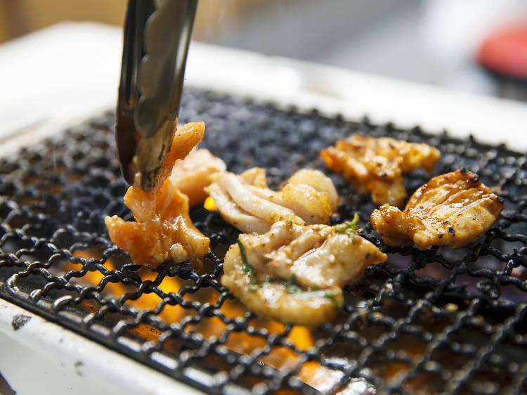 8pm: Have dinner in yakiniku heaven