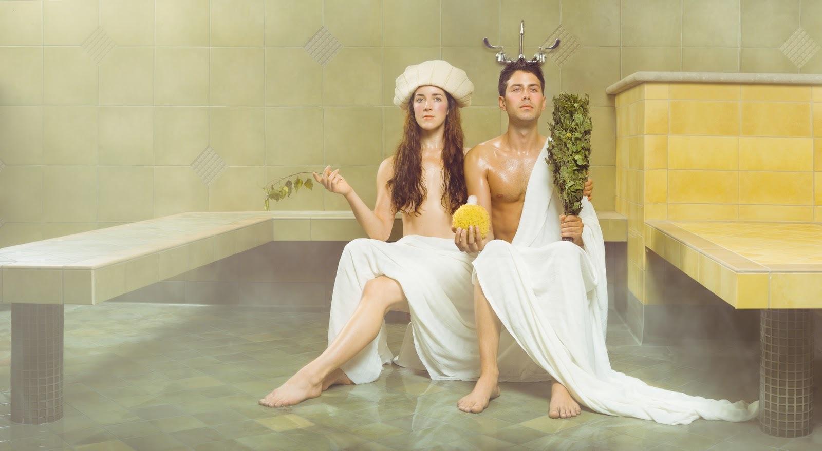 Soak in a Russian bathhouse