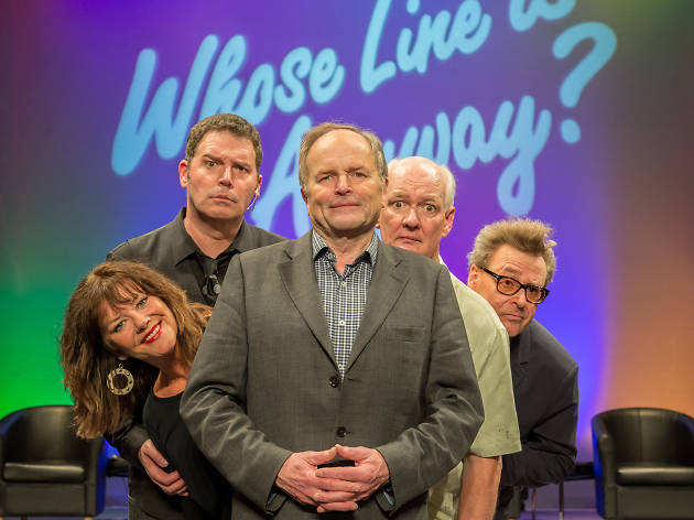 Clive Anderson and the 'Whose Line Is It Anyway?' West End cast