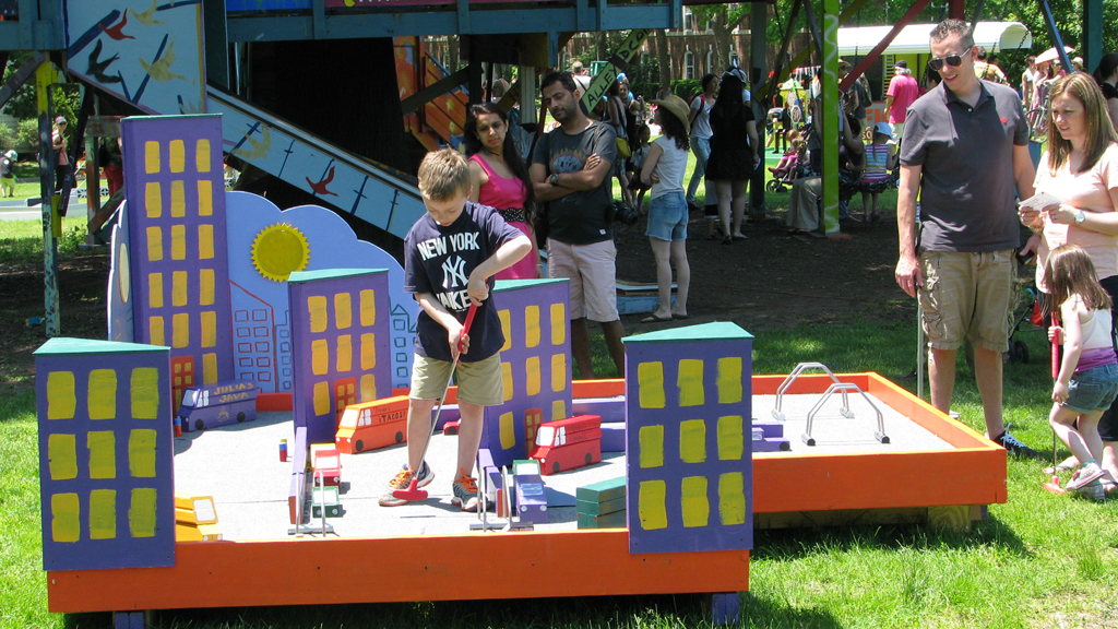 Challenge your minis to Mini Golf