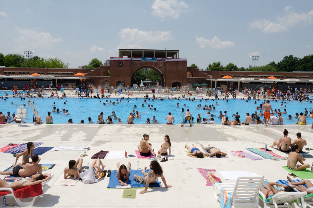 Take a dip in a public swimming pool