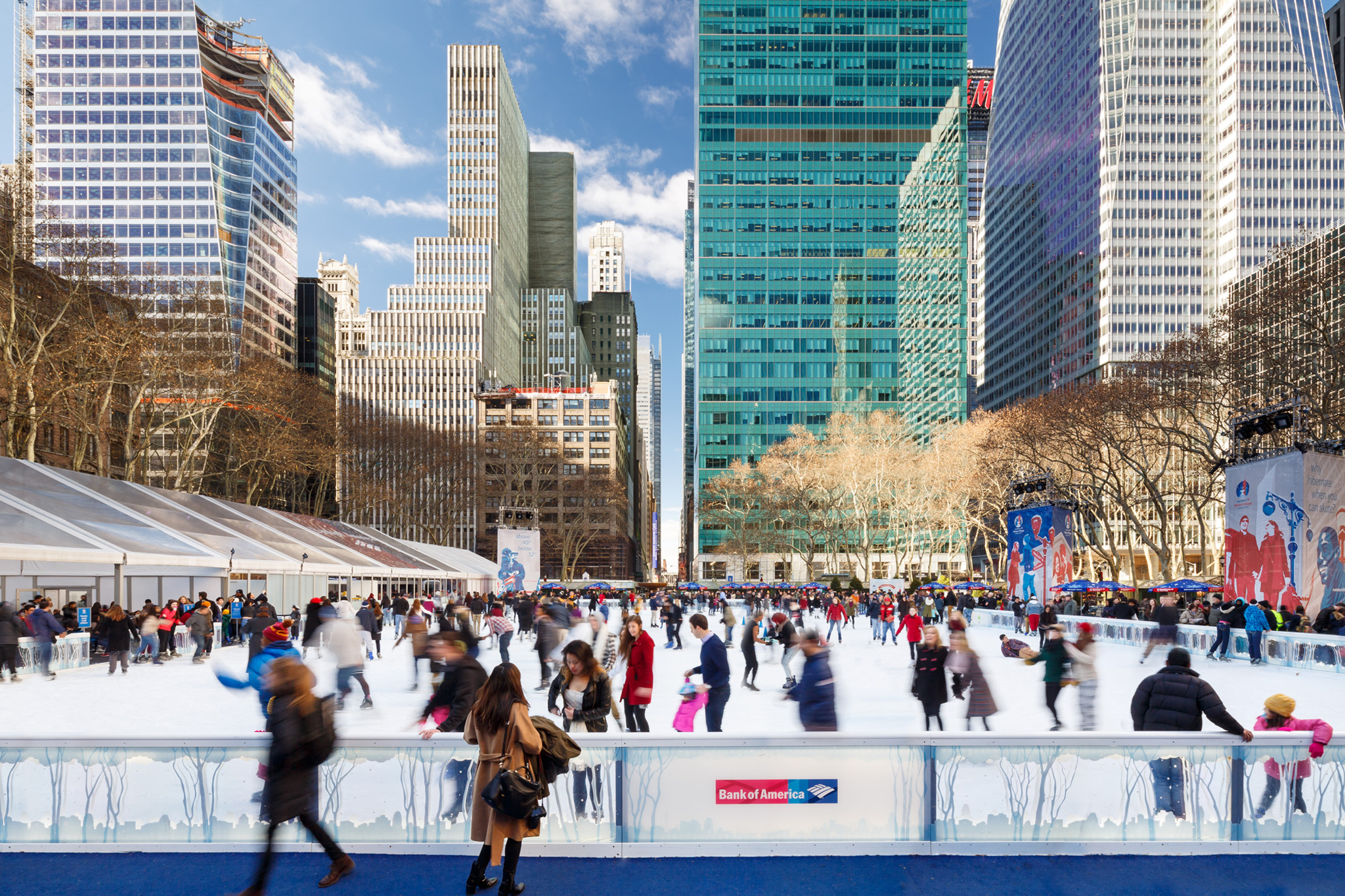Image result for Bryant Park skating rink