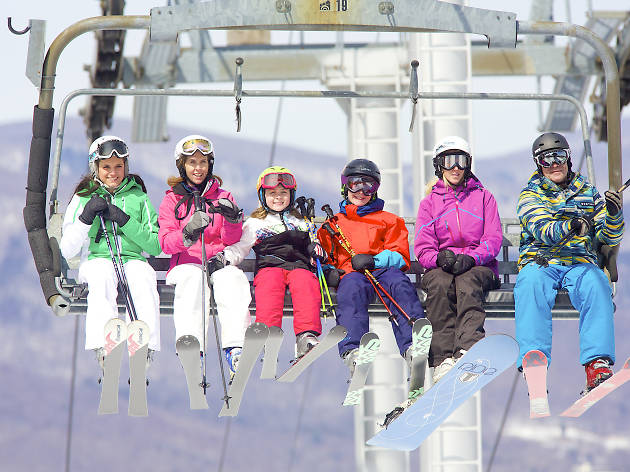Ski trips for families near NYC