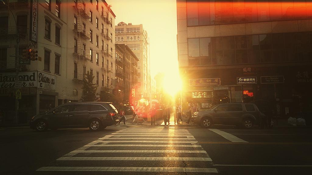 Catch a city sunset