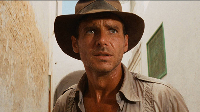 Harrison Ford in Steven Spielberg's RAIDERS OF THE LOST ARK (198