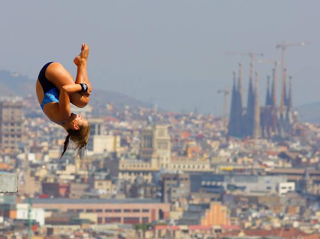 salt trampolí, Club Natació Barcelona