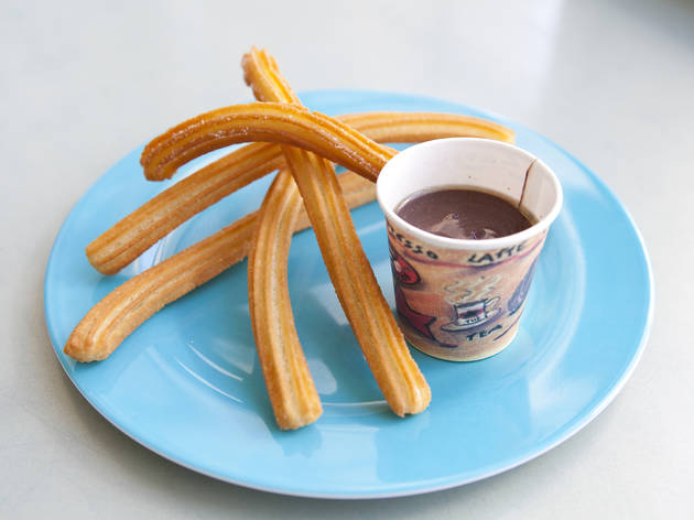 Best chocolate (but not-too-chocolate) dessert: La Churreria churros