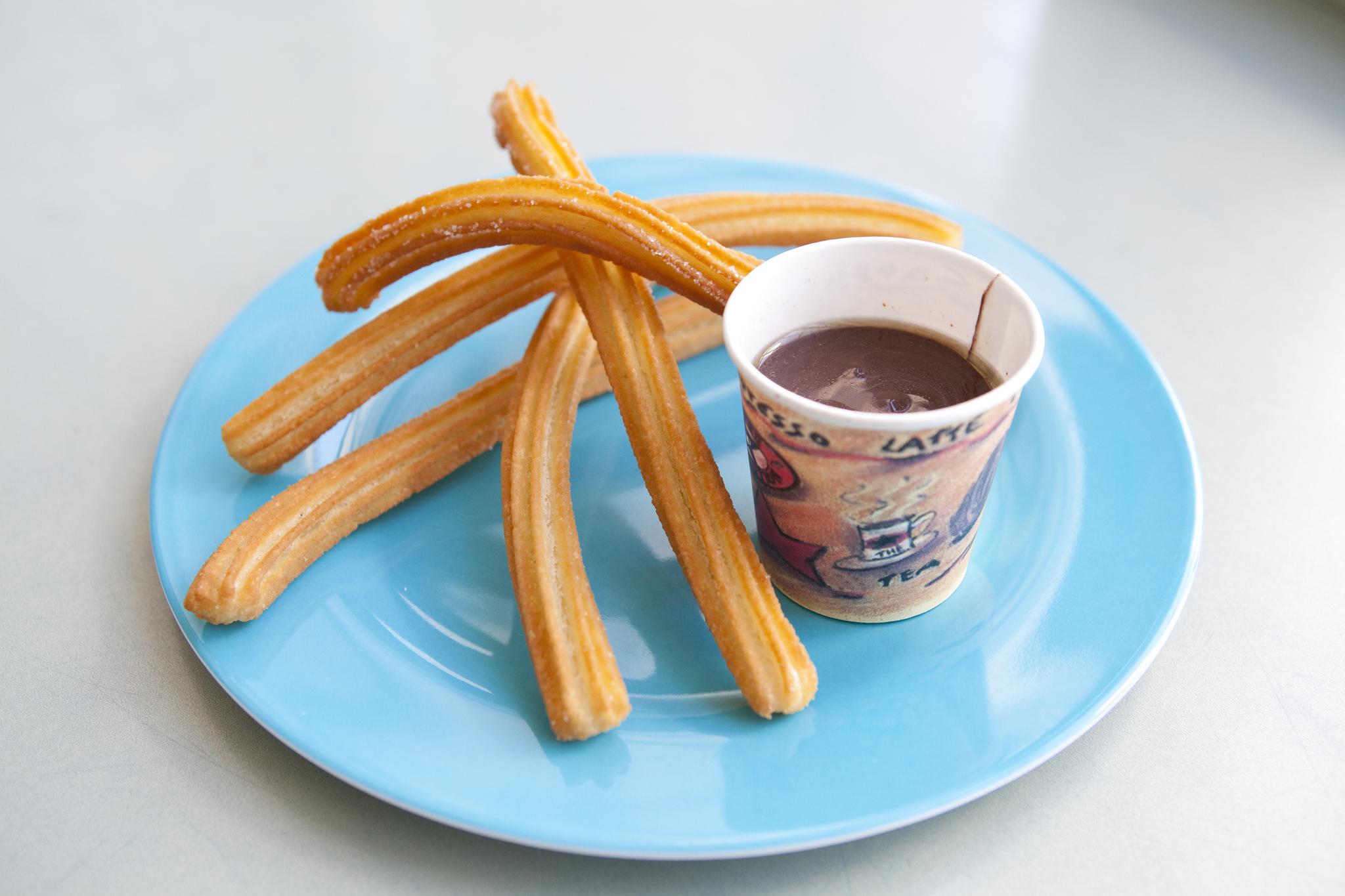 Best chocolate (but not-too-chocolate) dessert: La Churreria churros