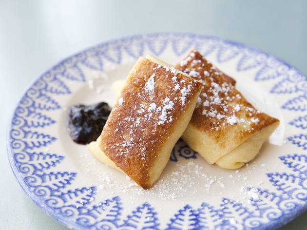 Best dessert from old New York: Barney Greengrass blintzes