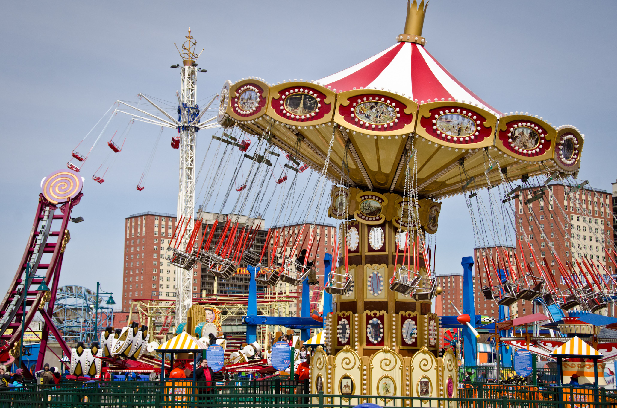 Take a spin on the rides at Luna Park