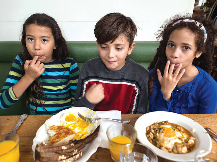 The city's kids' restaurants/menus take the cake