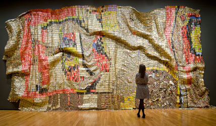 """""""Gravity and Grace: Monumental Works by El Anatsui"""""""