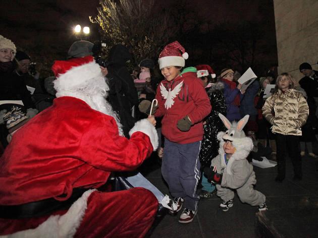 Caroling in Washington Square