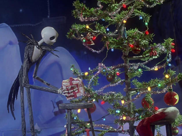 Nightmare before christmas gift scene