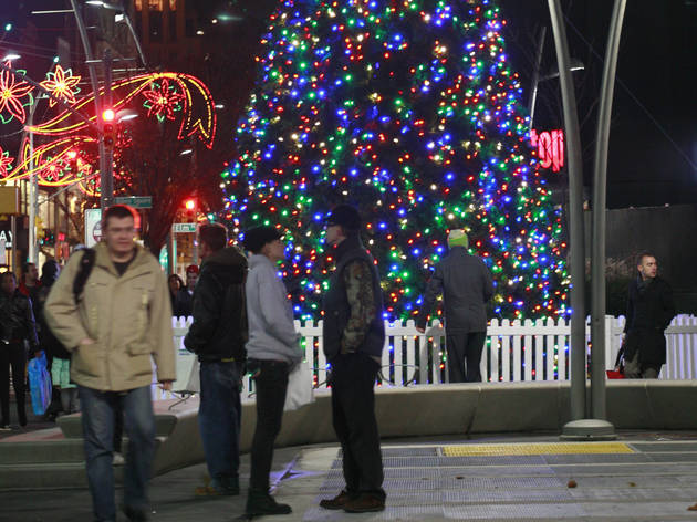 Downtown Brooklyn Holiday Tree and Menorah Lighting