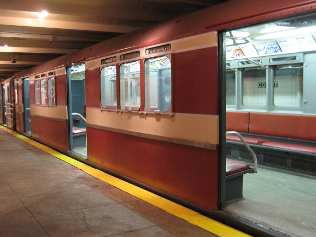 Climb aboard trains at the New York Transit Museum