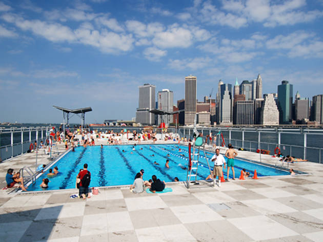 The floating pool sports and fitness in the bronx bronx for Floating swimming pool paris