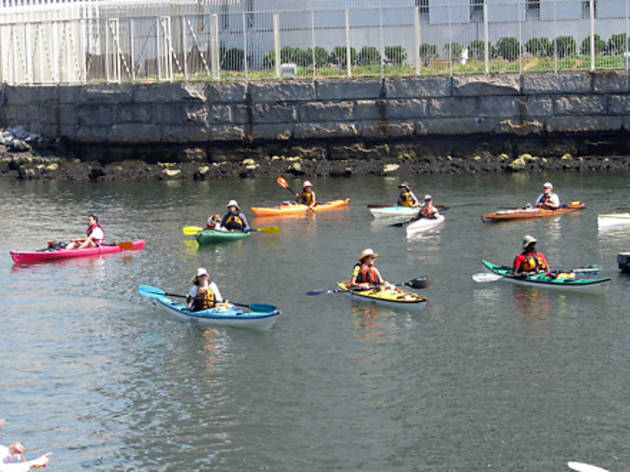 Kayaking on the Hudson at Riverside Park