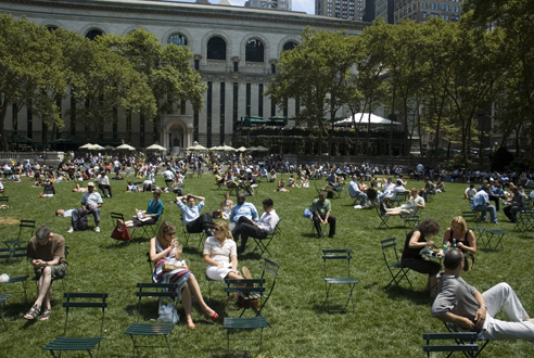 See what's up at Bryant Park