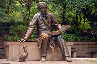 Central Park, Hans Christian Andersen Statue at Conservatory Water