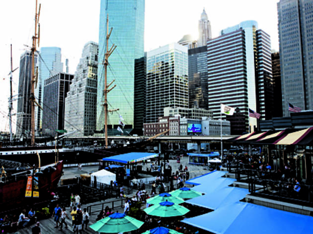 Stroll around the South Street Seaport