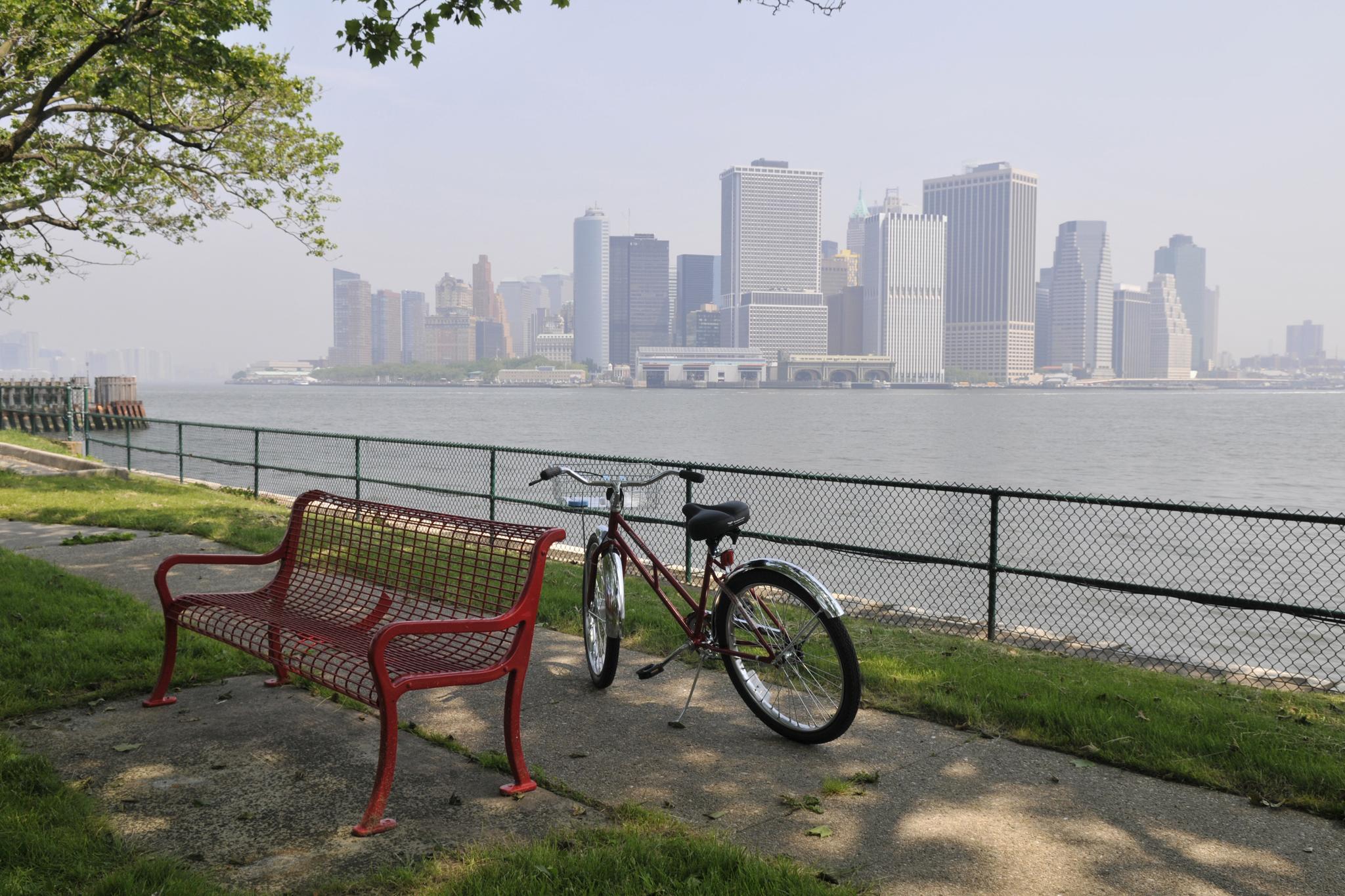 Biking on Governor's Island