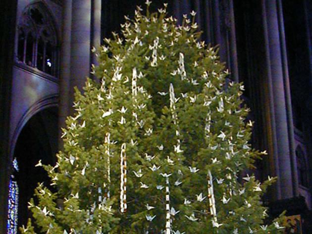 Peace Tree at the Cathedral Church of St. John the Divine Tree Lighting