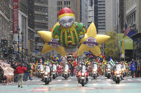 See floats at Macy's Thanksgiving Day Parade