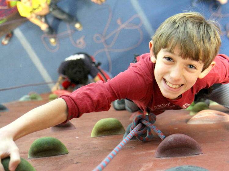 The best kids' rock climbing walls in NYC