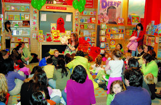 Storytime at the Scholastic Store