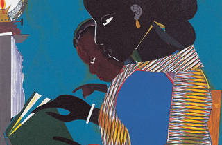 Detail of Romare Bearden's The Lamp.