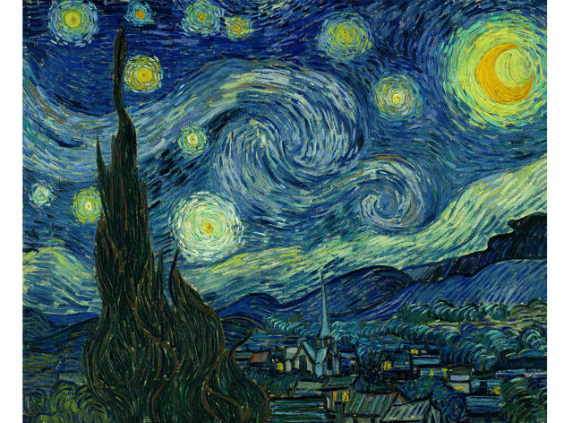 "Museum of Modern Art: The Starry Night, Vincent van Gogh (Dutch, 1853-1890), Saint Rmy, June 1889. Oil on canvas, 29 x 36 1/4"" (73.7 x 92.1 cm)..."
