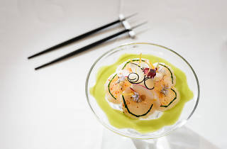 Raw Marinated Diver Scallop at Gabriel Kreuther