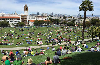 The newly re-opened Dolores Park